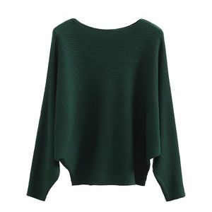 Sweaters - Gaberly Boat Neck Batwing Sleeve Sweater-like new